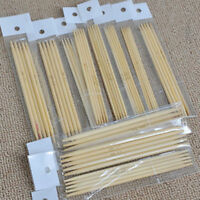 Bamboo Double Pointed Knitting Needles Sock Sweater Glove Knit Tool 13cm 55pcs