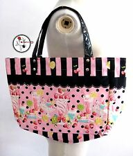 Japan Sweets Parfait Ice cream Fruits Canvas Cute Kawaii Hand Shoulder Pink Bag