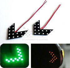 2x 14pcs 3528 SMD LED Panel Green Mirror Indicator Turn Signal Lamps Car/Truck C