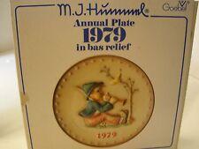Vintage Hummel 9Th Annual Plate 1979 Goebel Hum 272 Boy Blowing Horn Bird