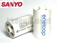Sanyo Eneloop Battery Adaptor Converter AA to D R20 x8