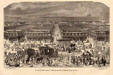 PARIS FOIRE DE SAINT GERMAIN GRAVURE 1878 ENGRAVING