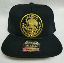 JALISCO  MEXICO  BASEBALL HAT BLACK 2LOGOS   SNAP BACK ADJUSTABLE  NEW