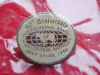 VINTAGE PIN PINBACK 1986 INTL ASSOC MILK CONTROL AGENCIES 50TH ANNIVERSARY