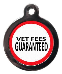 Pet ID tag Medical alert VET FEES GUARANTEED Tag 32mm or 24mm personalised
