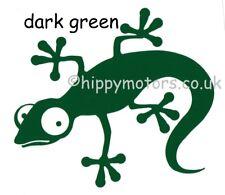 Dark Green Gecko Lizard car sticker window decal caravan VW camper van transfer