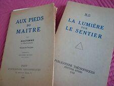 AUX PIEDS DU MAITRE PAR ALCYONE & LA LUMIERE SUR LE SENTIER M.C PUB THEOSOPHIQU