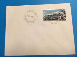 """TERRES AUSTRALES AERIEN 14 """" KERGUELEN PORT AUX FRANCAIS 50F """" FDC 1968 TTB Q006"""
