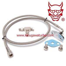 """Kinugawa Turbo Oil Feed Line Garrett T3 T4 Restrictor 0.08"""" 50cm / Braided Steel"""
