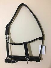 Genuine leather horse full headcollar  black or brown head collar