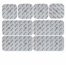 8 électrodes compatible Compex snap EMS TENS musculation 4x 10*5 cm + 4x 5*5 cm