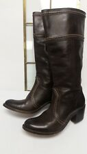 FRYE 77231 Jane 14L brown Leather Riding Motorcycle Boots Women's 10 B cognac