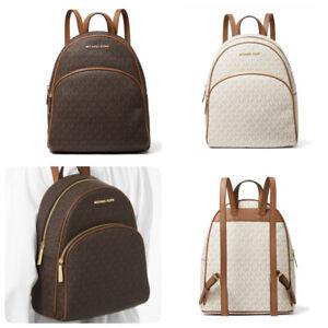Michael Kors Women Abbey Mk Signature PVC Medium Backpack & Dustbag