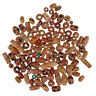 100x Mixed Large Hole Wooden Beads For Macrame Jewelry Charms Crafts Making