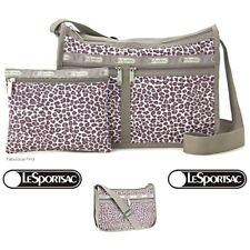 LeSportsac Cheetah Dot Deluxe Everyday Crossbody + Cosmetic Bag Free Ship NWT