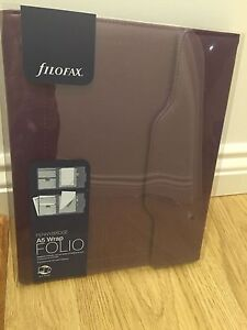 Filofax Pennybridge A5 Wrap Folio iPad Notepad Purple Folder new