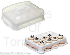 Kitchen Craft 24 Hole Large Covered Muffin / Cup Cake Carrier & Display Trays