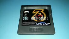 Jeu Sega Game Gear Gamegear Mortal Kombat 3