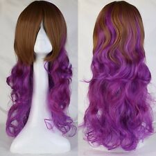 Long Wave Synthetic Wigs With Bangs Fancy Halloween Anime Cosplay Costume Wig #H