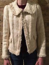 ZARA WOMAN EUR M Veste Blazer blanc/crème avec gold thread