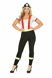 Hot Spot Plus Size Women s Sexy Fire Fighter Costume Black White 1X   2X 1X - 2X