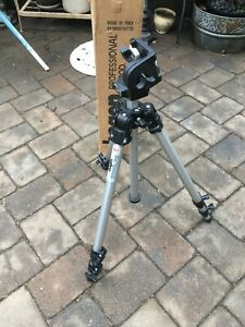 Bogen Manfrotto 3011 Tripod w/ 3126 Pan Head and Pan Handle