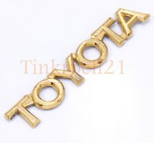 Toyota 97-01 Camry 95-99 Avalon Gold Trunk Emblem Script Badge Nameplate OE Rear