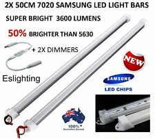 2X 50CM DIMMABLE SAMSUNG 12V LED STRIP LIGHT BAR CARAVAN 4WD CAMPING BOAT CAMPER
