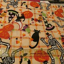 Halloween cotton fabric Alexander Henry Tricky Treats skeleton candy BTHY