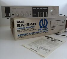 Pioneer SA-540 amplifier with box and manual *fully tested and working*