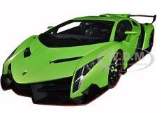 LAMBORGHINI VENENO GREEN 1/18 DIECAST MODEL CAR BY AUTOART 74509