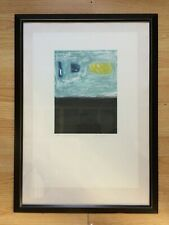 "Gloria Gaddis Monotype Silk Screen Print ""Between the Earth & Sky II""  1/1"