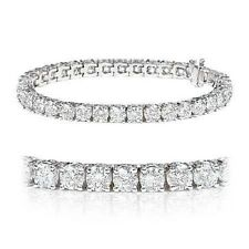 F/VS 6.00 Carat Round Diamond Tennis Bracelet , Platinum