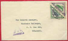 Mozambique Company 1941 80c Rate Censored Cover to Rhodesia Railways Bulawayo