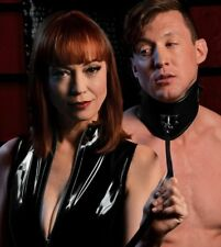 Mistress Isabella Sinclaire Leather Posture Collar with Leash Bondage BDSM Neckl