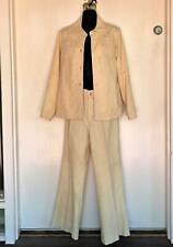 Vintage Ms. Pioneer Pantsuit Jacket Bellbottom Pants Flared Faux Suede Size 12