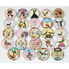 CUTE WHIMSICAL BADGES x 24 Button Badge Bulk Wholesale Lot 32mm 1.25""