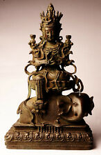 Alte Guan Yin 48 cm 9 kg Bronze Buddha China antik Stil B91