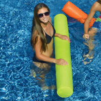"""Swimline 55"""" Sunsoft Fabric Covered Swimming Pool Doodle Float Noodle - Lime"""