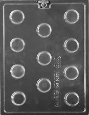 Mini Round Plain Oreo Type Cookie Chocolate Mould 11 Shapes On 1 Mould