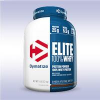 DYMATIZE NUTRITION ELITE 100% WHEY (5 LB) quality 25g protein powder bcaa aminos