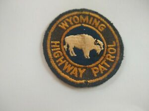 Very Old Wyoming State Federal Police Patch