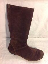 edc By Esprit Dark Brown Mid Calf Suede Boots Size 37