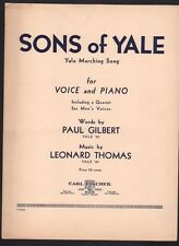 Sons of Yale (Yale Marching Song) 1936 Football Sheet Music