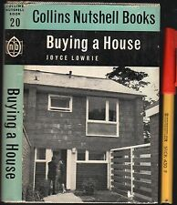 BUYING A HOUSE 1963 1st Edition Hardcover w/jkt EC 128 pages