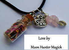 Love Charm Spell Necklace© Attraction Heart Chakra Pagan Wiccan Love Amulet