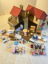 Huge Lot of Calico Critters Sylvanian Families RED ROOF HOUSE Stairs Furniture