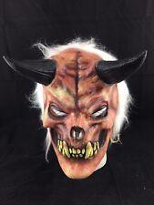 blanco con pelo DEMONIO - Gótico Disfraz Halloween lujo Cosplay Máscara disfraz