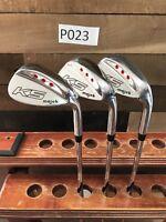 K5 Majek Mens Wedge Set 52, 56, 60 Steel Shaft Standard Grip Right Handed P023