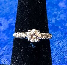 Estate 14k Gold Two-Tone 0.65 ct Diamond Ring from 1950s H-I VS1